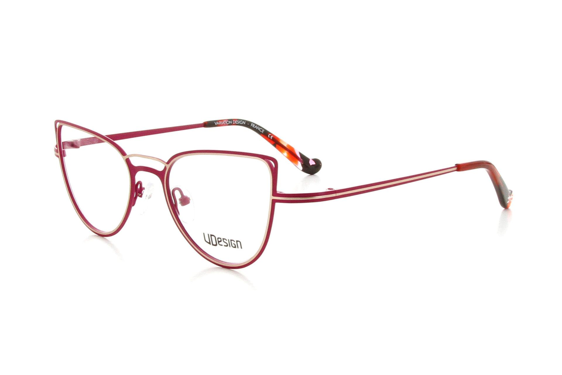 Lunette VDESIGNE rouge framboise cote